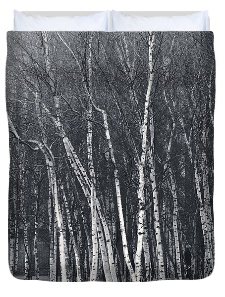 Silver Trees Duvet Cover