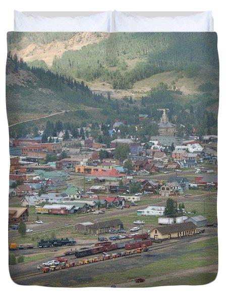 Silverton Colorado Painterly Duvet Cover by Ernie Echols