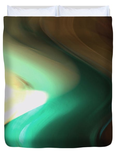 Duvet Cover featuring the mixed media Sine Of Ninety by Terence Morrissey