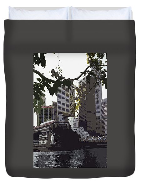 Singapore's Merlion Duvet Cover by Juergen Weiss