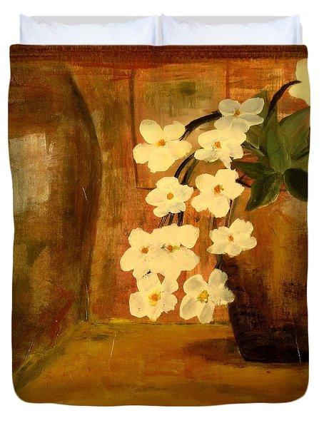 Single Vase In Bloom Duvet Cover