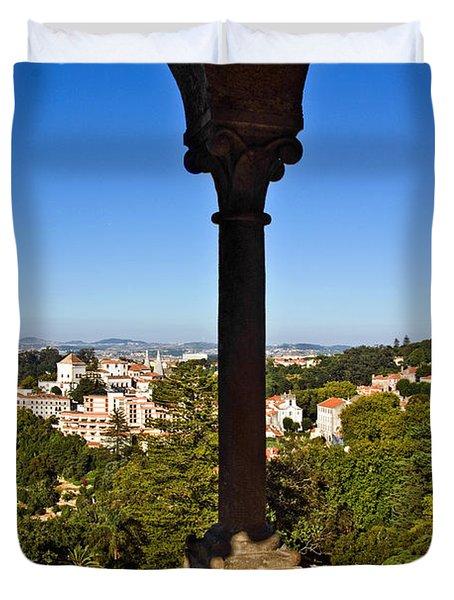 Sintra Balcony Duvet Cover by Carlos Caetano
