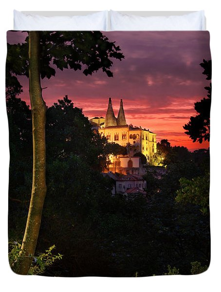 Sintra Palace Duvet Cover by Carlos Caetano
