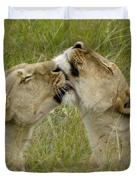 Sisterly Love Duvet Cover by Michele Burgess