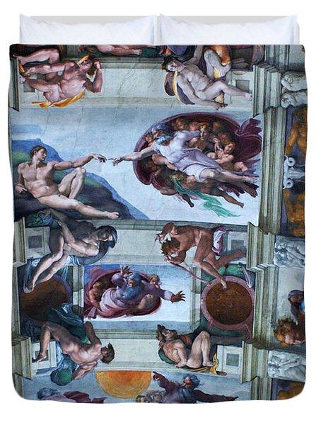 Sistine Chapel Ceiling Duvet Cover by Bob Christopher