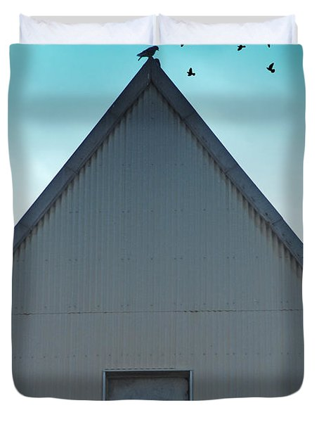 Duvet Cover featuring the photograph Sitting On The Peak by Kathleen Grace