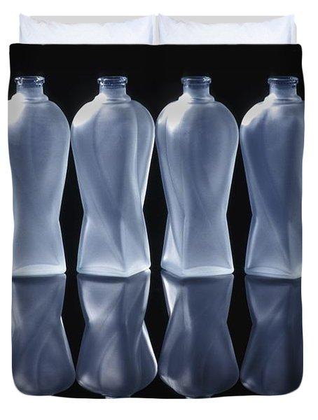 Six Glass Bottles Duvet Cover by David Chapman