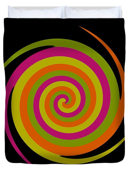 Duvet Cover featuring the photograph Six Squared With A Twirl by Steve Purnell