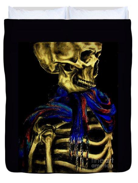 Skeleton Fashion Victim Duvet Cover by Tylir Wisdom