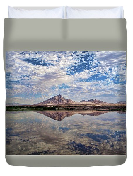 Duvet Cover featuring the photograph Skies Illusion by Tammy Espino
