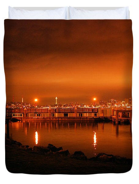 Skies On Fire Duvet Cover