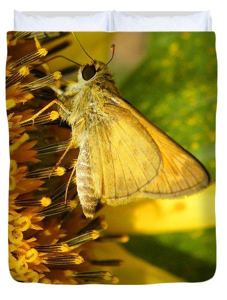 Skipper And Sunflower Duvet Cover by Sandi OReilly