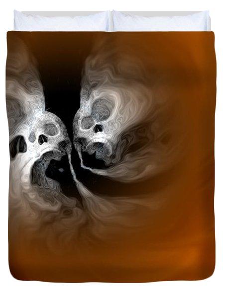 Skull Scope 4 Duvet Cover by Adam Vance