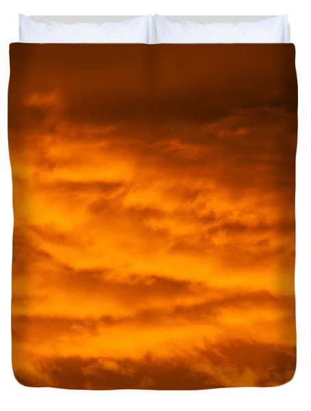 Sky Of Fire Duvet Cover by Colleen Coccia