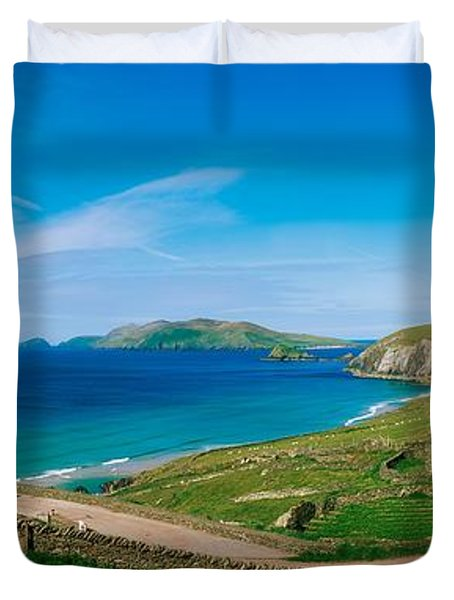 Slea Head & Blasket Islands, Dingle Duvet Cover by The Irish Image Collection