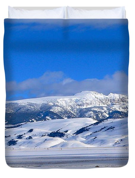 Duvet Cover featuring the photograph Sleeping Indian by Eric Tressler