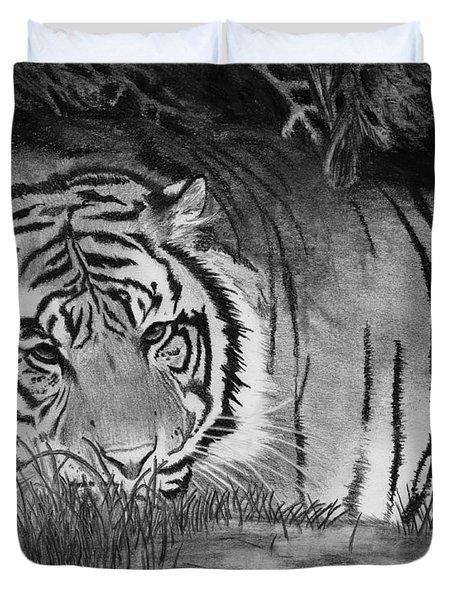 Sleepy Tiger Duvet Cover