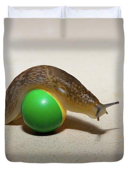 Slug On The Ball Duvet Cover