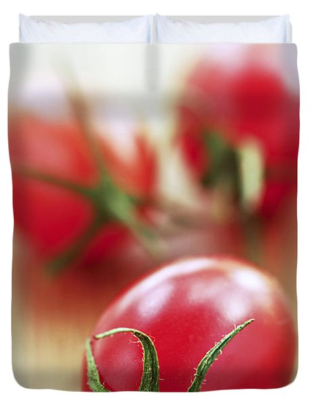 Small Tomatoes Duvet Cover