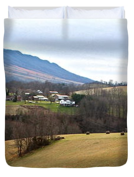 Duvet Cover featuring the photograph Small Town by Kume Bryant