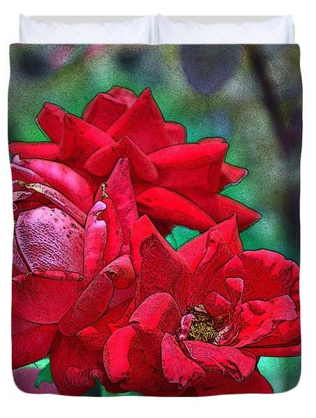 Smell The Roses Duvet Cover by Paul Mashburn