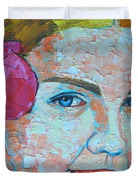 Smiling Girl Duvet Cover by Ana Maria Edulescu