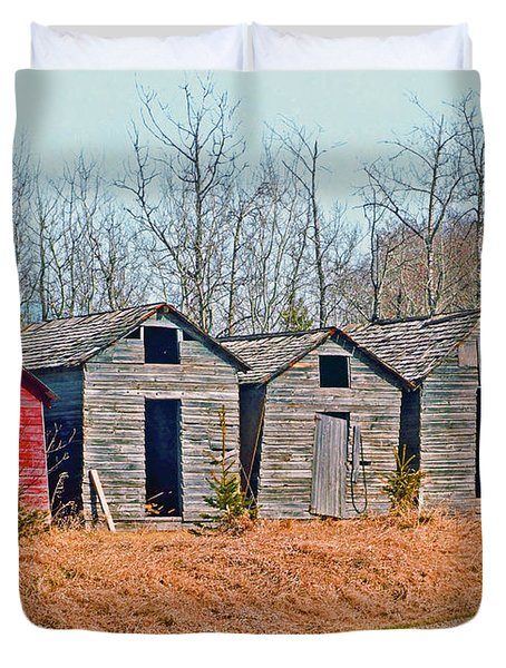 Smokehouse Row Duvet Cover