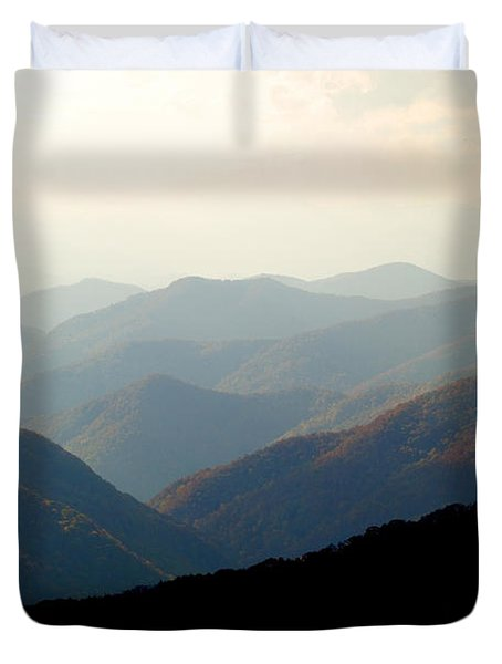 Smoky Mountain Overlook Great Smoky Mountains Duvet Cover by Rich Franco