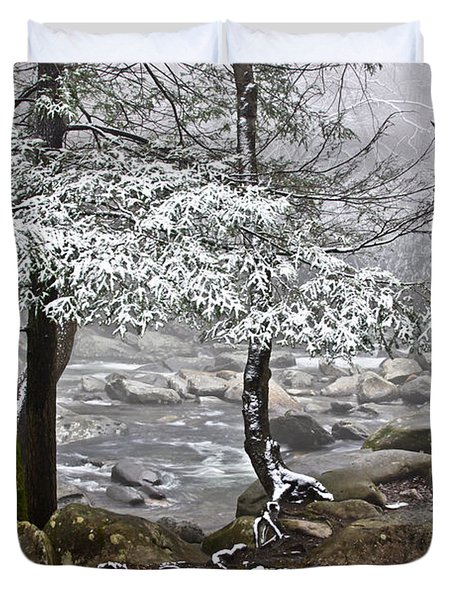 Smoky Mountain Stream Duvet Cover