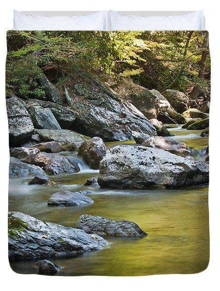 Smoky Mountain Streams II Duvet Cover