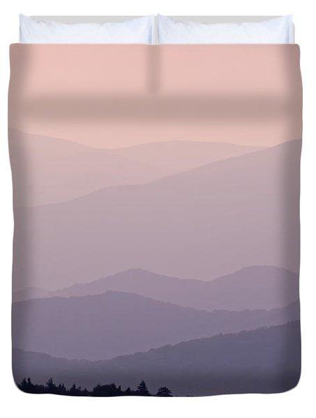 Smoky Mountain Sunset Duvet Cover