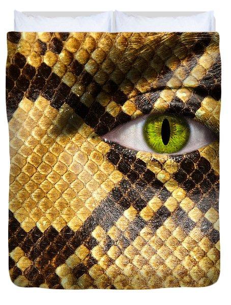 Snake Eye Duvet Cover by Semmick Photo