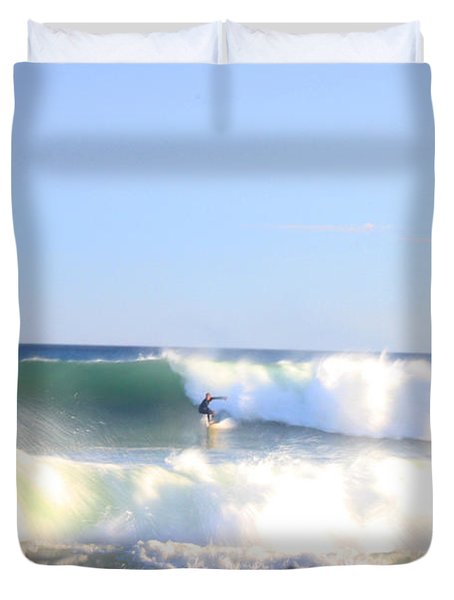 Snake Hole Surfer Duvet Cover by Todd Breitling