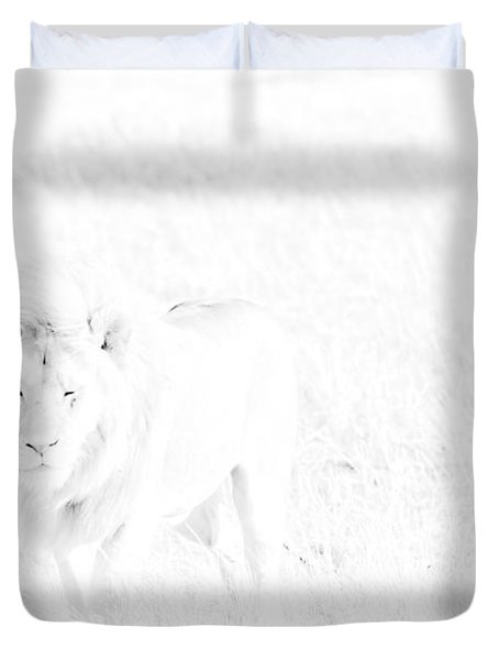 Snow Lion Duvet Cover by Darcy Michaelchuk