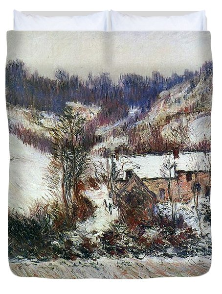 Snow Near Falaise Duvet Cover