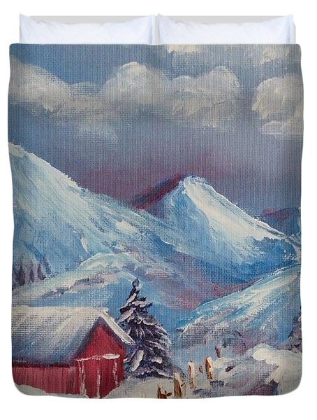 Snow Path Duvet Cover by Peggy King