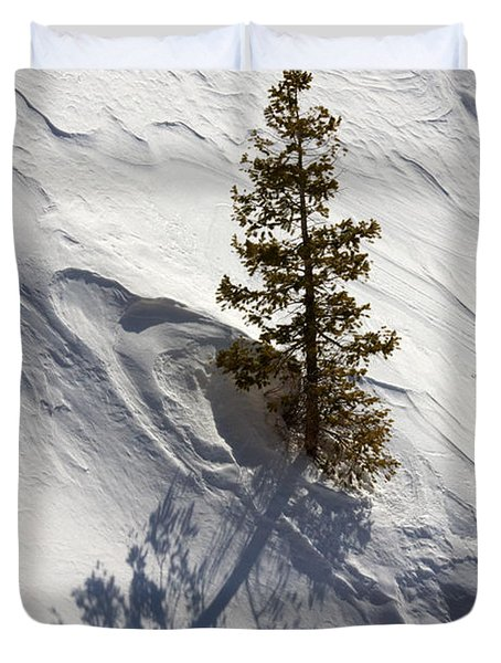 Duvet Cover featuring the photograph Snow Shadow by Karen Lee Ensley