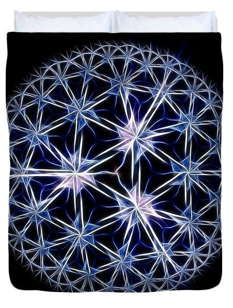 Snowflakes Duvet Cover by Danuta Bennett