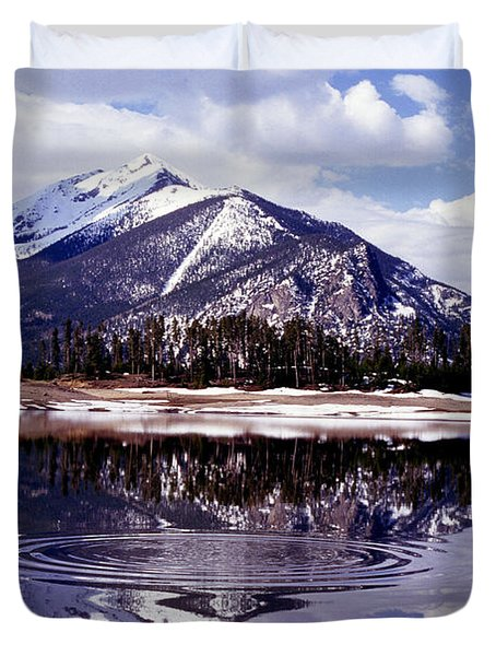 Snowmelt Runoff In The Rocky Mountains Duvet Cover