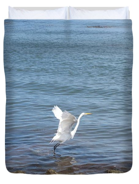 Duvet Cover featuring the photograph Snowy Egret by Marilyn Wilson