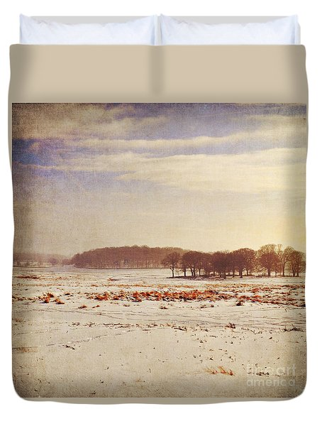 Snowy Landscape Duvet Cover by Lyn Randle