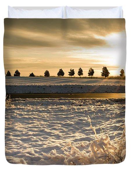 Snowy Sunrise Duvet Cover