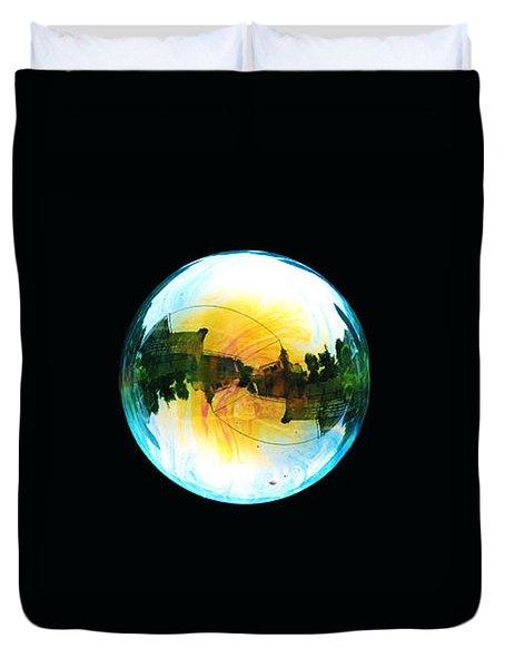 Soap Bubble Duvet Cover by Sumit Mehndiratta