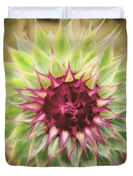 Soft As A Thistle Duvet Cover by Amy Tyler