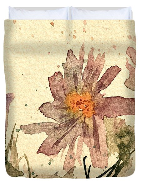 Soft Asters Aged Look Duvet Cover by Beverley Harper Tinsley