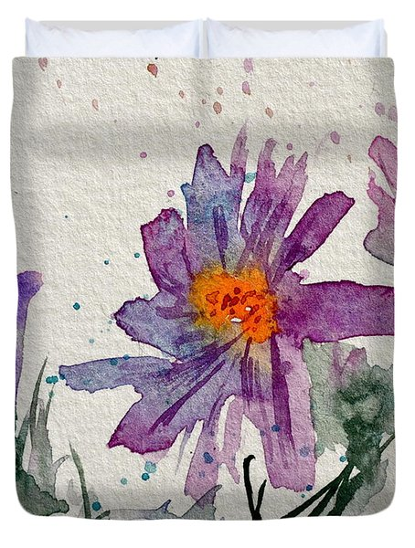 Soft Asters Duvet Cover by Beverley Harper Tinsley