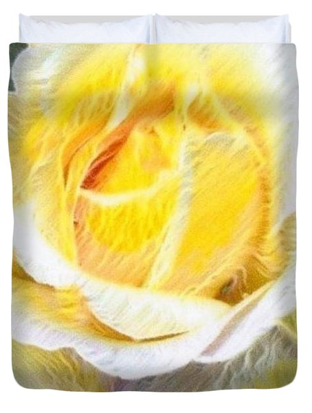 Softly Blooming Rose Duvet Cover by AE Hansen