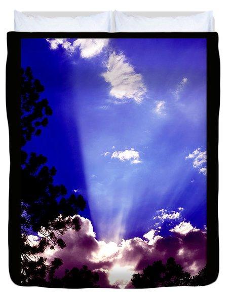 Duvet Cover featuring the photograph Solar Devas by Susanne Still