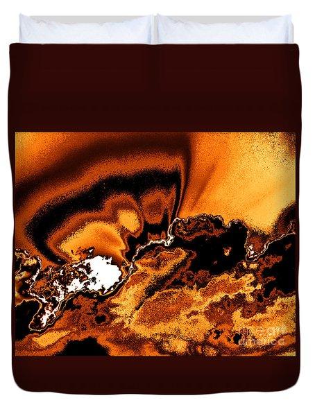 Solar Flare Duvet Cover by Rebecca Margraf
