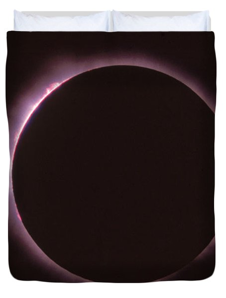 Solar Prominence And Chromosphere Duvet Cover by Science Source